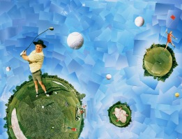 INTERPLANETARY GOLF - Photo print collage - Client: Self promotion