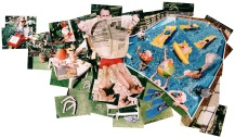 POOLSIDE WITH BUSH - Photo print collage - Client: Forbes Magazine