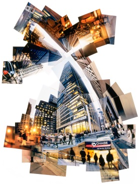 DOWNTOWN CHASE - Photo print collage - Client: Self promotion