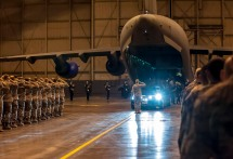 The body of NYPD Detective and Air National Guardsman Joseph Lemm being returned to his unit at Stewart Air National Guard, Newburgh, NY.