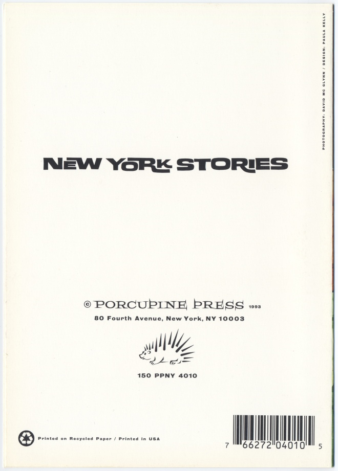 PORCUPINE PRESS BACK 1993