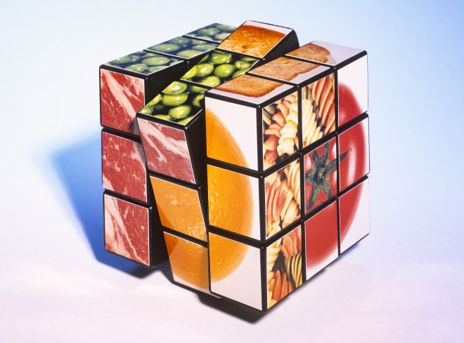 RUBIK'S FOOD GROUP CUBE  1998