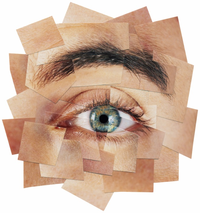 COLLAGE OF MAN'S EYE 1993