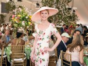 050218-HAT-GALA-DM-10 Scenes from the 36th Annual Frederick Law Olmsted Awards Luncheon (the Hat Gala) in the Conservatory Garden of Central Park, NYC. Here: Stephanie March David McGlynn 5/2/18