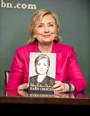 061014ÑHILLARY-DM-1.jpg Hillary Clinton with her book: 'Hard Choices' at book signing at Barnes & Noble, West 17th Street, NYC. David McGlynn 6/10/14