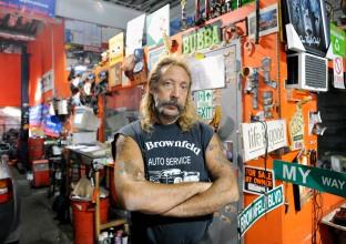 083011-BROWNFELD-DM-1.jpg Alan Brownfeld in his shop, Brownfeld Auto Service Inc., 518 West 29th Street, NYC. David McGlynn 8/30/11