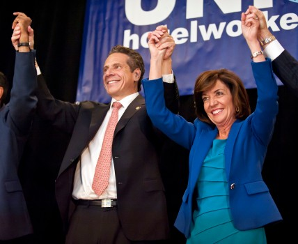 090814ÑHOCHUL-DM-3.jpg NYS Lt. Governor candidate Kathy Hochul appearing with Governor Andrew Cuomo at GOTV Rally at the New York Hotel Trades Council, along with other politicos and leaders, 305 West 44th St on 8th Ave, NYC. David McGlynn 9/8/14