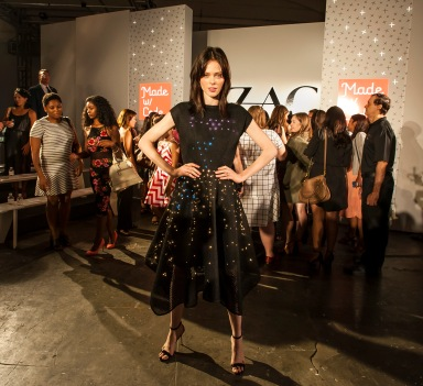 090815-POSEN-DM-2 Kicking off Fashion Week in New York City, the Zac Posen Spring Summer Collection fashion show at Industria Superstudio 775 Washington Street, NYC. Model Coco Rocha debuts a special dress created for the Google non-profit ' Made With Code' program. Here: Coco Rocha David McGlynn 9/8/15